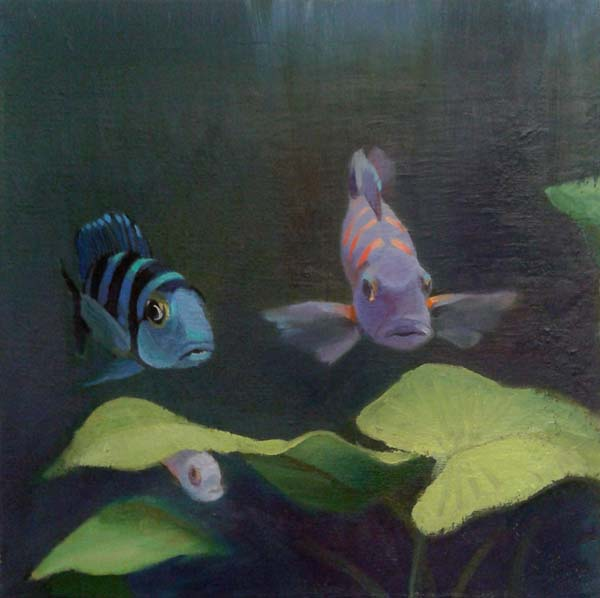 Három hal_2014_40x40cm